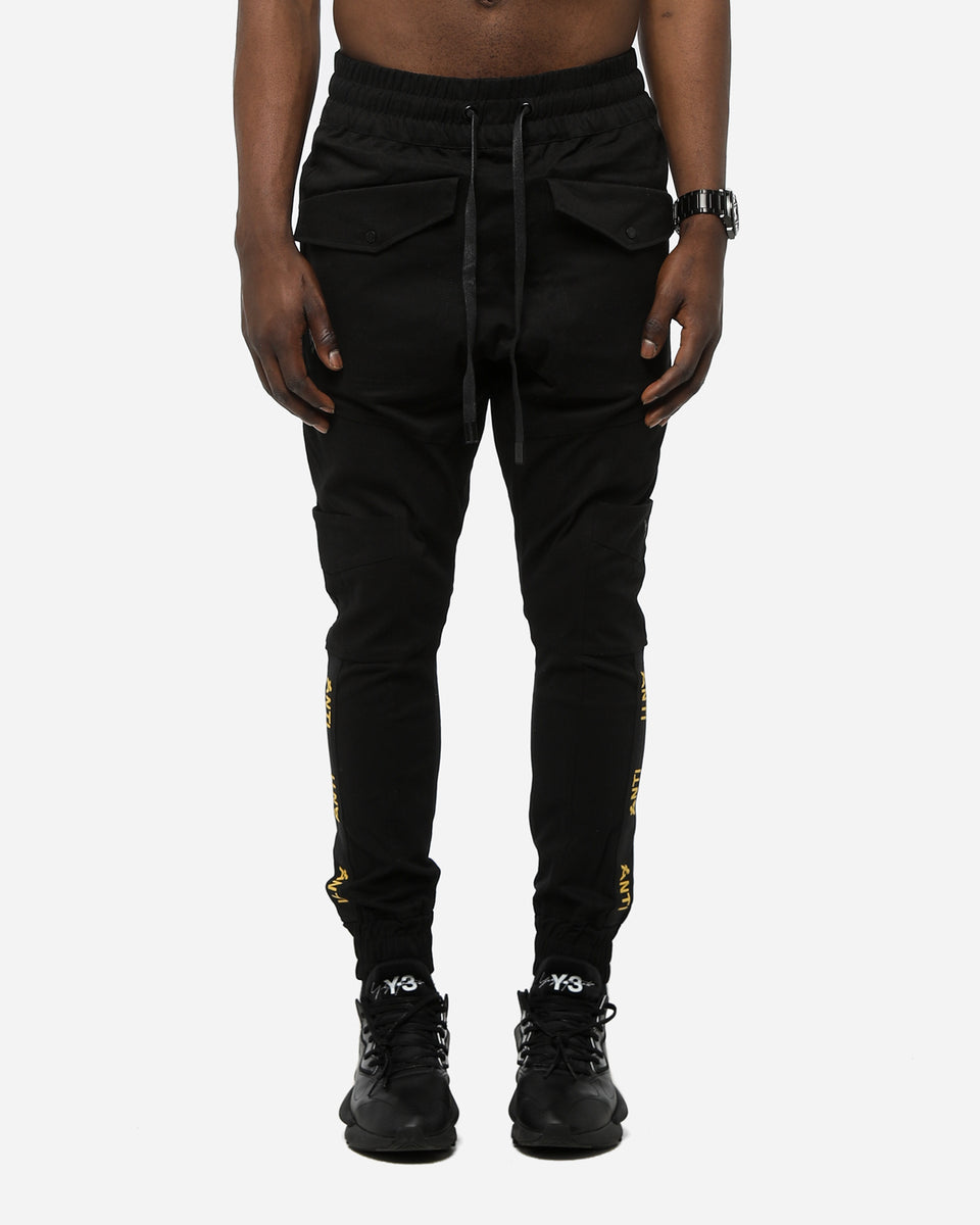 ANTI STRIPE CARGO PANT - Black/Yellow