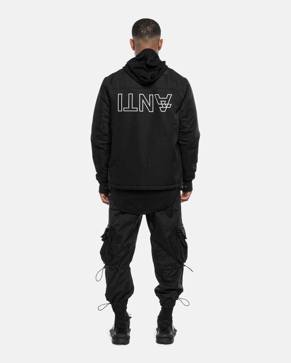 NON-MILITARY BOMBER JACKET - Black/3M