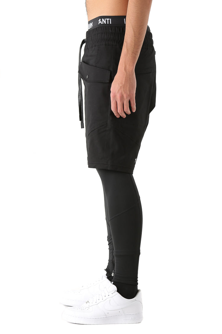 ANTI CARGO SHORTS - Black