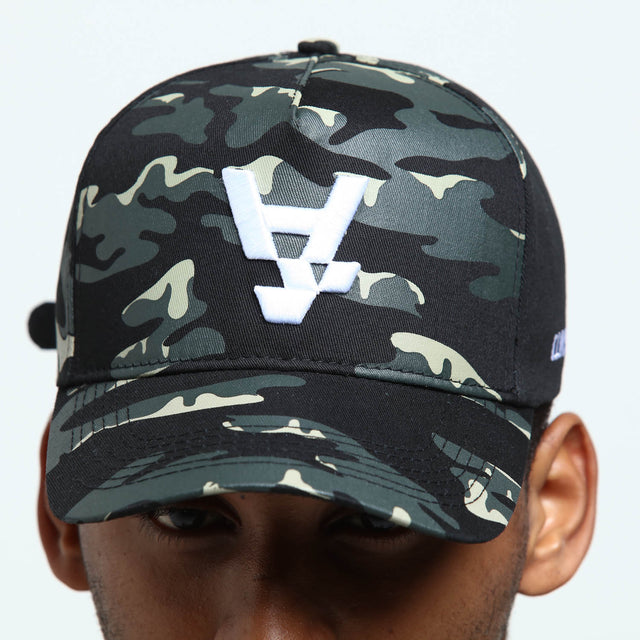 ANTI CAMO STRAPBACK - Black Camo