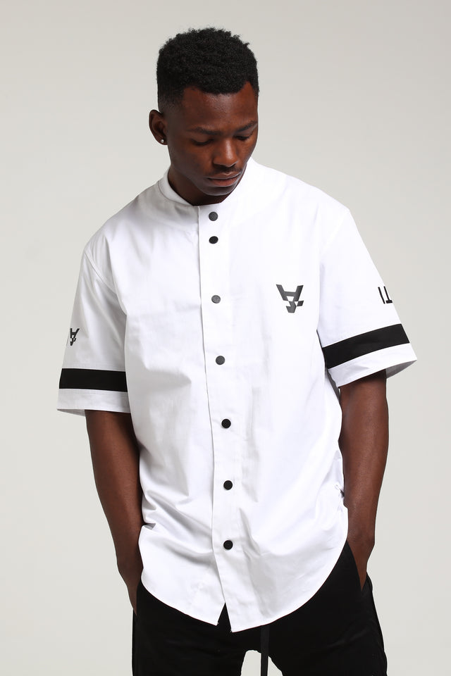 PRO LEISURE BASEBALL JERSEY - White/Black