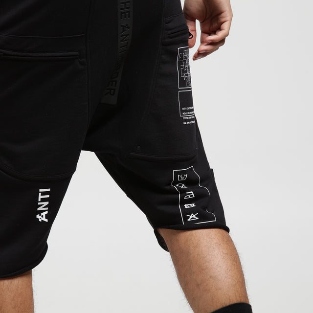 ABCDEF1 COMPONENT SHORT - Black