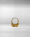 ANTI-JEWEL RING - GOLD MICRO PLATED STERLING SILVER