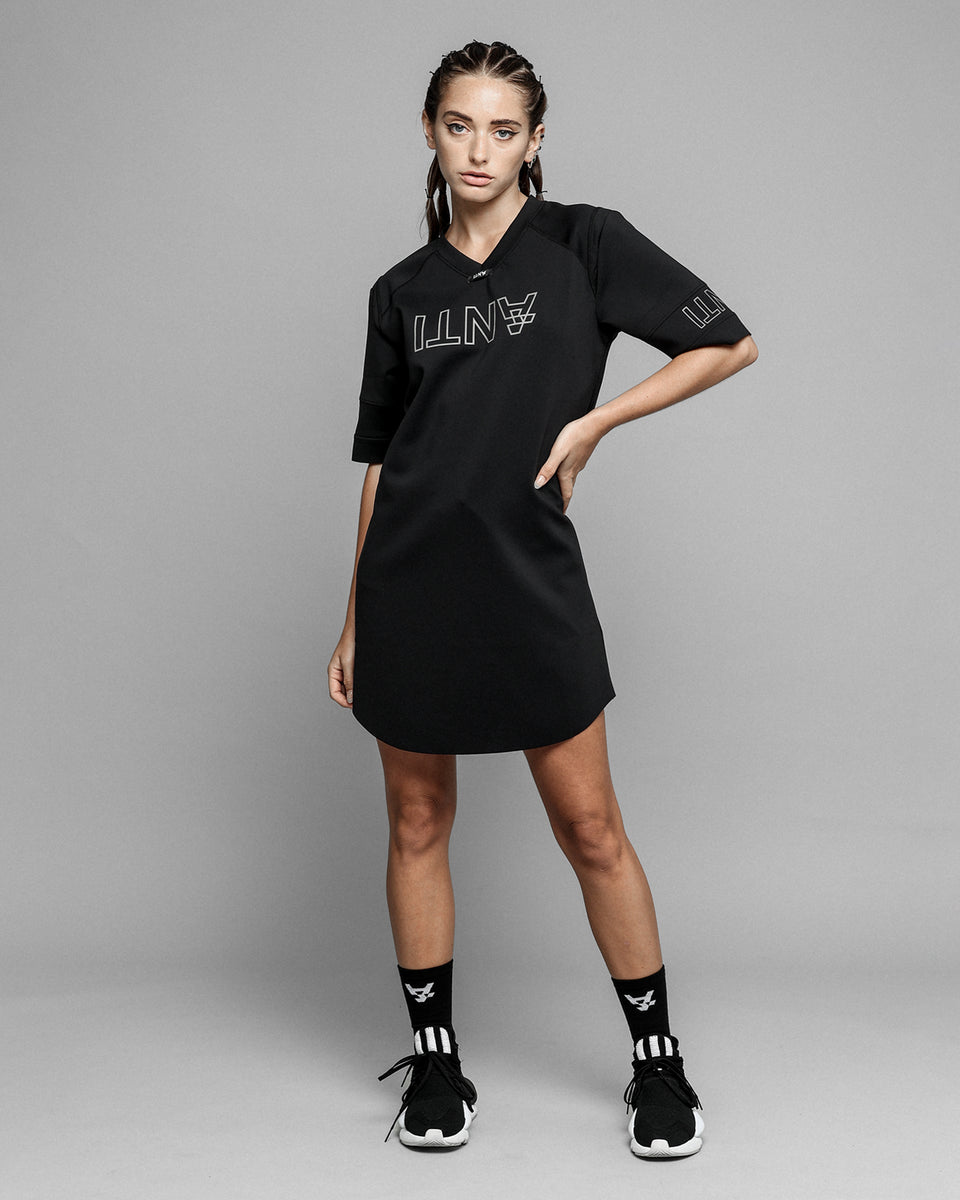 AWAY TEAM JERSEY DRESS - Black