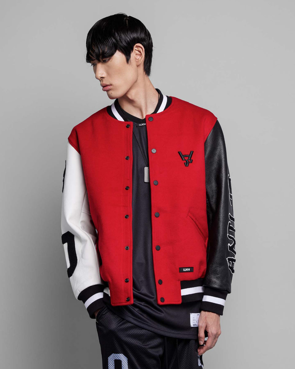 CHICVGO VARSITY JACKET - Red/White/Black
