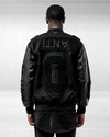 DARK GUARDIAN VARSITY JACKET - Black/Black