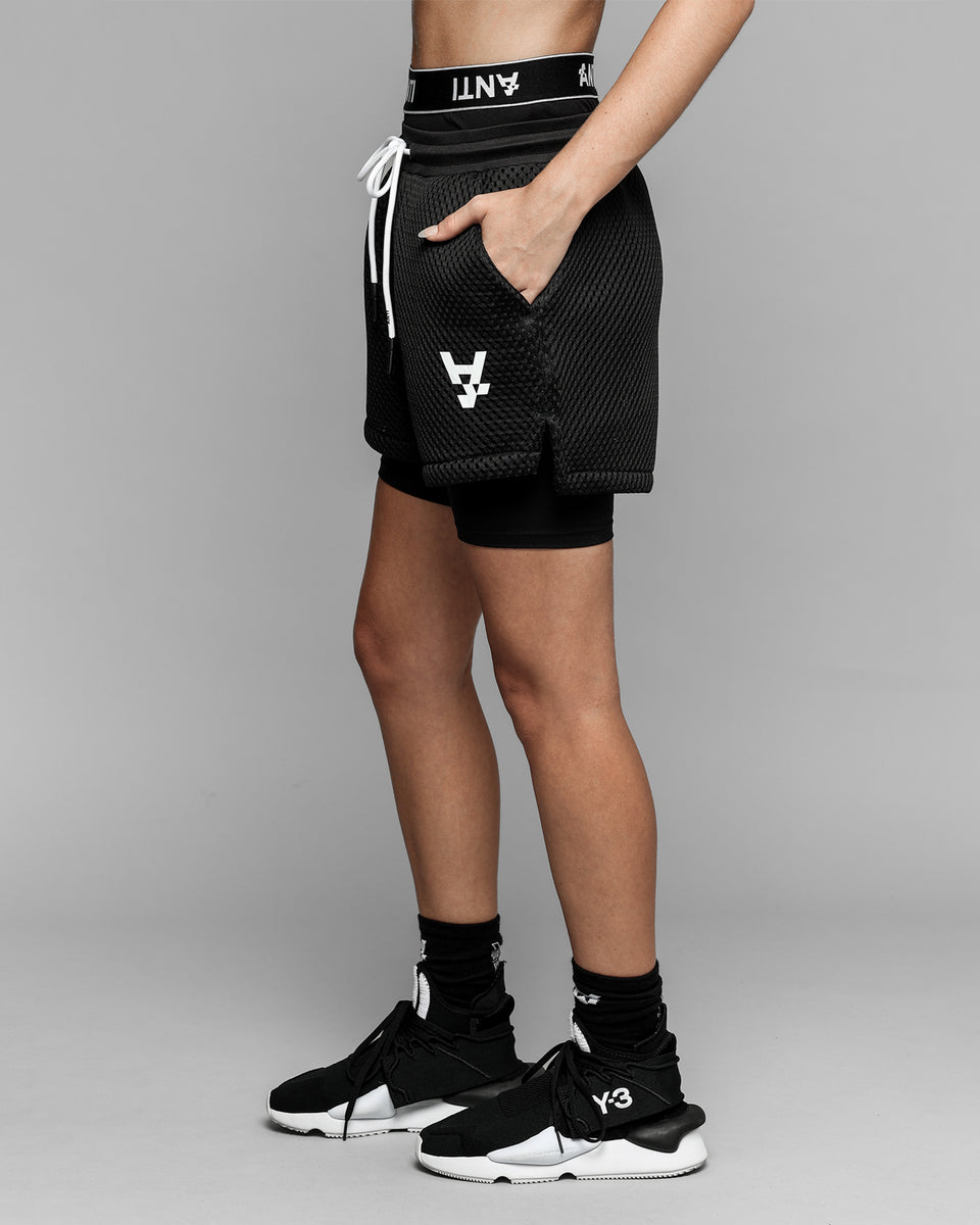 POST MODERN ATHLETIC SHORT - Black/White