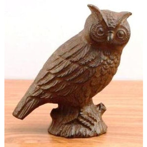 Cast iron garden owl