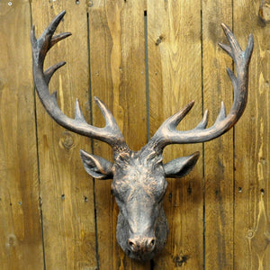 Bronze Finish Resin Deer Head