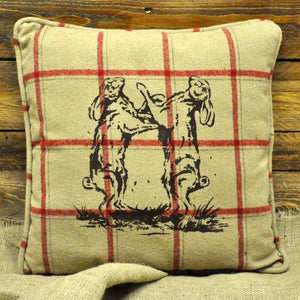 Beige Dancing Hares Cushion