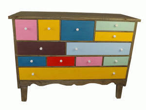 Multicoloured Wooden Drawers Set