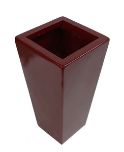 Tall Fibreglass Tapered Planter Red Gloss