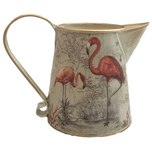 Flamingo Vintage Metal Jug