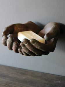 Bronze Effect Wall Mounted Hands