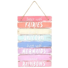 Fairies, Unicorns and Rainbows Plaque