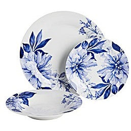 Bold Blue Floral Dinner Set
