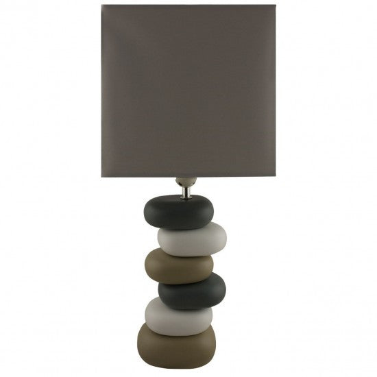 Brown Pebble Lamp