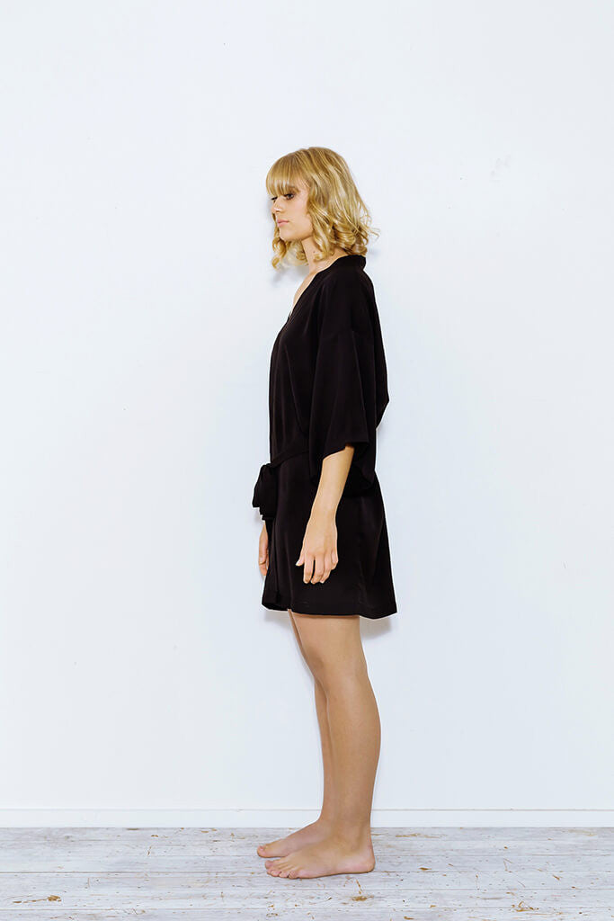 Short Black Robe from Cathy Campbell Ltd 85513c79e