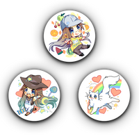 Super Happy Kawaii Button Pack
