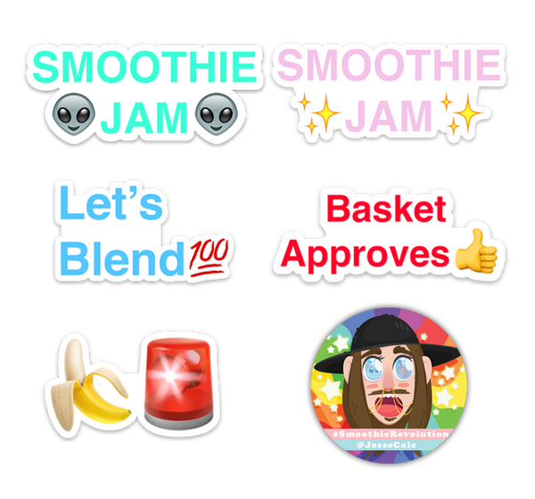Smoothie Revolution Sticker Bundle (plus bonus sticker)
