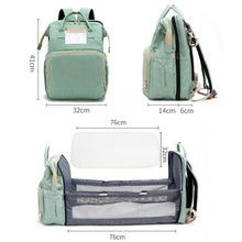 Load image into Gallery viewer, The Emma 2-in-1 Crib Diaper Bag Backpack - Eloise & Lolo