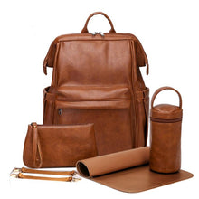 Load image into Gallery viewer, The Harlow Diaper Bag Backpack - Vegan Leather - Eloise & Lolo