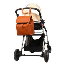 Load image into Gallery viewer, The Aubrey Diaper Bag Backpack - Vegan Leather - Eloise & Lolo