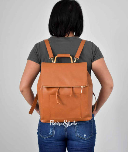 The Aubrey Diaper Bag Backpack - Vegan Leather - Eloise & Lolo