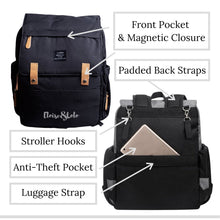 Load image into Gallery viewer, The Blake Diaper Bag Backpack with Luggage Attachment - Eloise & Lolo