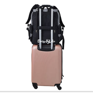 The Blake Diaper Bag Backpack with Luggage Attachment - Eloise & Lolo