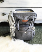 Load image into Gallery viewer, The City Diaper Bag Backpack with Luggage Attachment - Eloise & Lolo