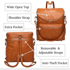 The Dylan Diaper Bag Backpack - Vegan Leather - Eloise & Lolo