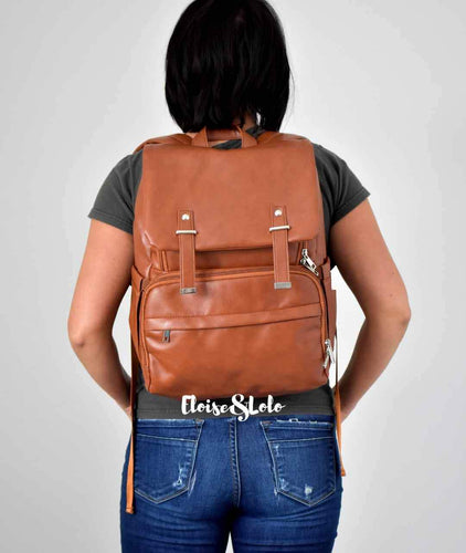 The Fiona Diaper Bag Backpack - Vegan Leather - Eloise & Lolo