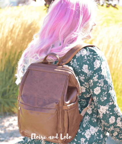 The Harlow Diaper Bag Backpack - Vegan Leather - Eloise & Lolo