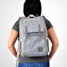 Load image into Gallery viewer, The Jaycee Diaper Bag Backpack with USB Charging Port - Eloise & Lolo