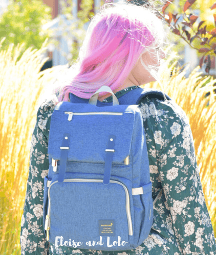The Jaycee Diaper Bag Backpack with USB Charging Port - Eloise & Lolo