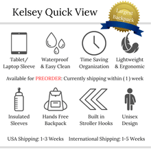Load image into Gallery viewer, The Kelsey Diaper Bag Backpack - Eloise & Lolo
