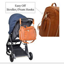 Load image into Gallery viewer, The Penelope Diaper Bag Backpack - Vegan Leather - Eloise & Lolo