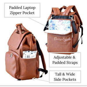 The Rory Diaper Bag Backpack - Vegan Leather - Eloise & Lolo