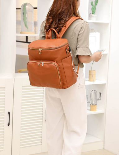 The Sawyer Diaper Bag Backpack - Vegan Leather - Eloise & Lolo