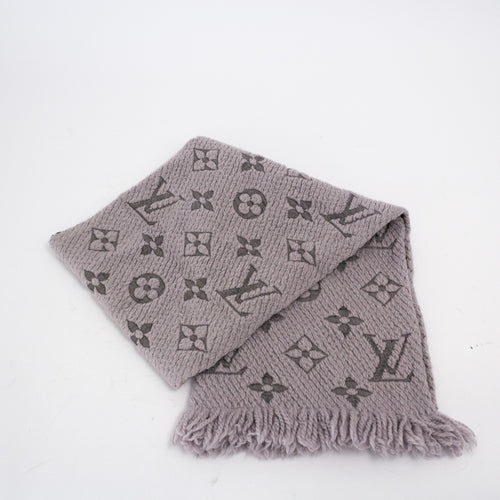 Wool Silk Logomania Scarf Verone