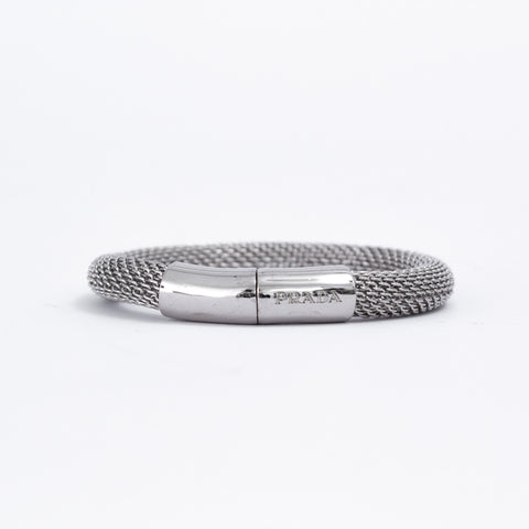 Silver Crystal Bangle