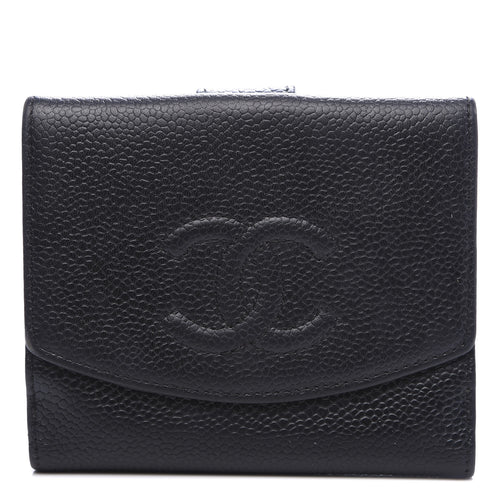Caviar Compact French Wallet