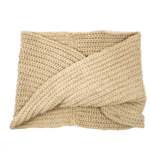 Wool Scarf Camel Knit
