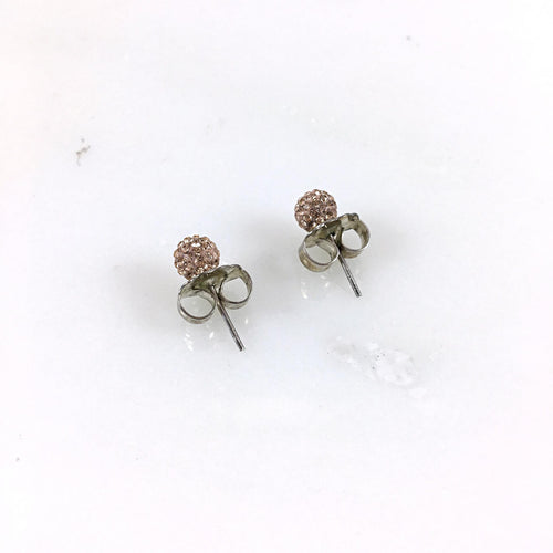 6mm Rose Gold Stud Earrings