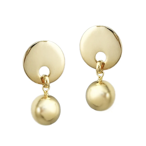 White Sparkle Ball Earrings