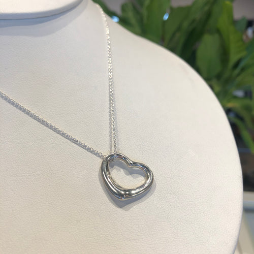 Open Heart Pendant Necklace