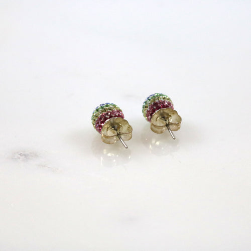 10mm Rainbow Stud Earrings