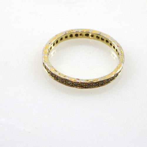 Gold Band Crystal Ring