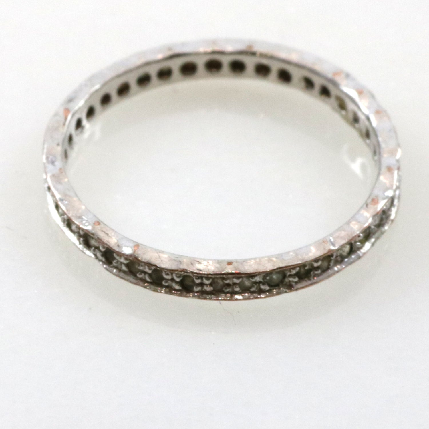 Silver Band Crystal Ring